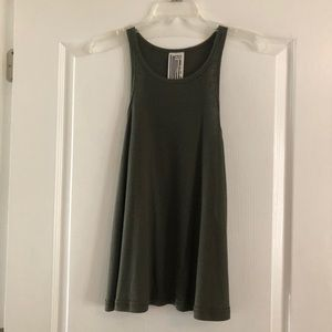 Free People Olive Green Tank